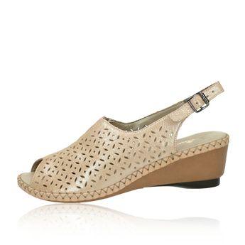 c8cf33b19580d Rieker dámske pohodlné perforované sandále - béžové