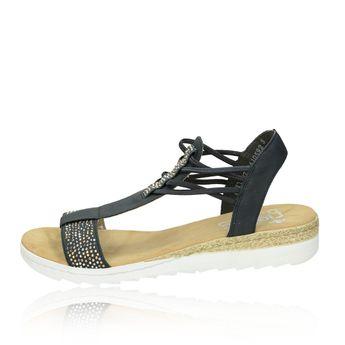 bbe9ea09fbe4 Rieker dámske pohodlné sandále - modré
