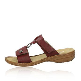 ddfe0e65f9a8 Rieker dámske pohodlné sandále na suchý zips - bordové