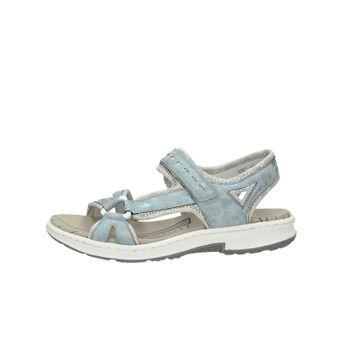 6db3df972f Rieker dámske pohodlné sandále na suchý zips - modré