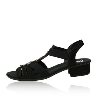 acdbec087fdf Rieker dámske sandále s ozdobnými prvkami - čierne