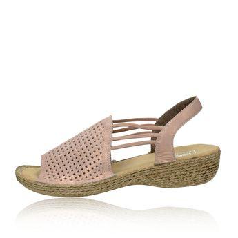 871f6b732e Rieker dámske štýlové perforované sandále - ružové