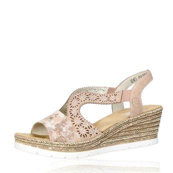 0aaffb51d0f1 Rieker dámske štýlové sandále na klinovej podrážke - ružové