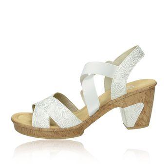 d9d62eda058a2 Rieker dámske štýlové sandále na podpätku - biele