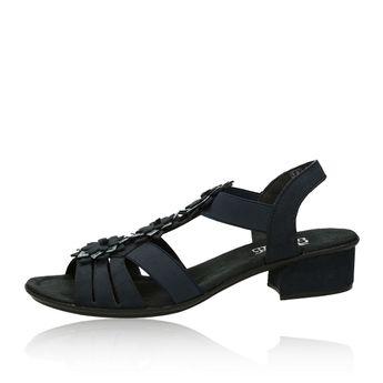 c2f9f265751d Rieker dámske štýlové sandále na podpätku - tmavomodré