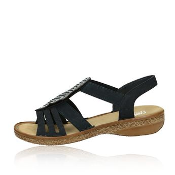 5d9ca7a436aae Rieker dámske štýlové sandále s ozdobnými kamienkami - tmavomodré