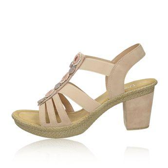 c1c80e1cb1ec Rieker dámske štýlové sandále s ozdobnými prvkami - ružové