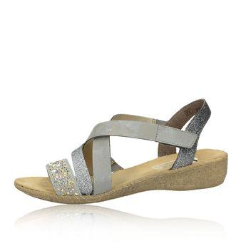 052264eeae31 Rieker dámske štýlové sandále s ozdobnými prvky - šedé