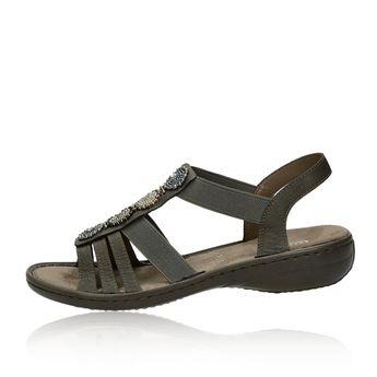 4f9fd77ea886 Rieker dámske štýlové sandále - tmavohnedé