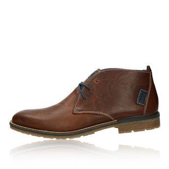 Pánska kožená členková obuv - hnedá