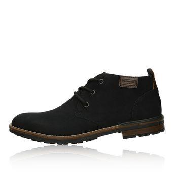 Pánska pohodlná členková obuv - čierna