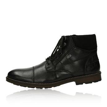 Pánska zateplená členková obuv - čierna