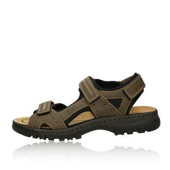 9661f7aada48d Rieker pánske pohodlné sandále na suchý zips - tmavohnedé