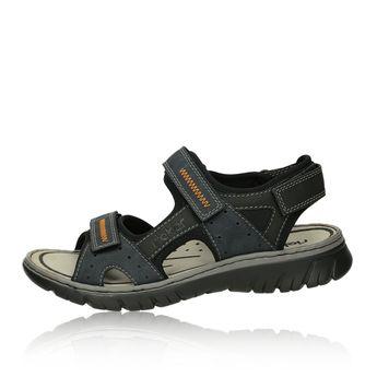 Pánske sandále na suchý zips - modré