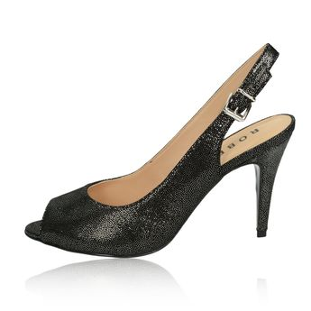 Robel dámske sandále na vysokom podpätku - čierne