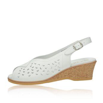 216ade9cb994 Robel dámske kožené perforované sandále - biele