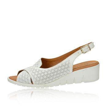 66532bd298ee Robel dámske kožené sandále - biele