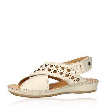 79a4908f7c9c Robel dámske kožené sandále na suchý zips - béžové
