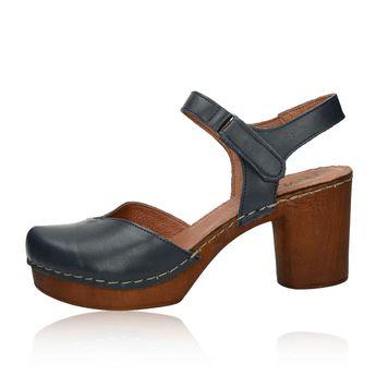 fb1818debd695 Robel dámske kožené sandále na suchý zips - modré