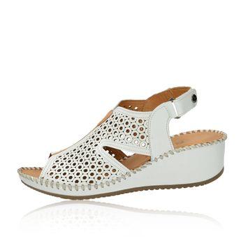 d88cce9ad518 Robel dámske perforované sandále na suchý zips - biele