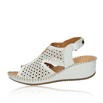 6ad4b2b86d49 Robel dámske perforované sandále na suchý zips - biele