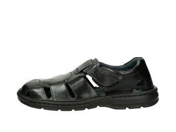 Robel pánske kožené sandále - čierne
