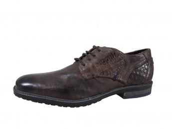 Bugatti šedé pánske kožené topánky