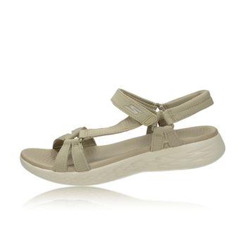 caf10faf5304 Skechers dámske pohodlné sandále - béžové