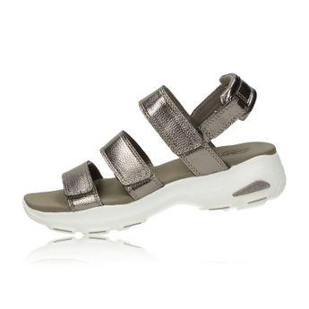 Skechers dámske pohodlné sandále na suchý zips - bronzové