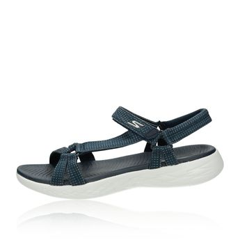 56c43a0af6 Skechers dámske pohodlné sandále - tmavomodré