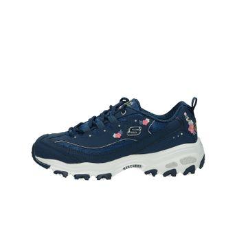 Skechers dámske štýlové tenisky s kvetinkami - modré