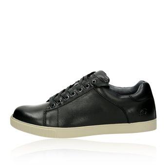 Skechers pánske kožené tenisky - čierne