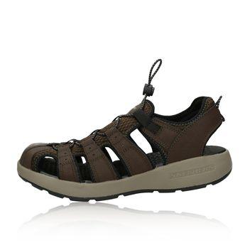 Skechers pánske pohodlné sandále - tmavohnedé