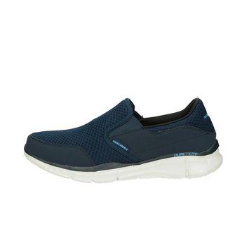 Skechers pánske tenisky bez šnurovania - modré