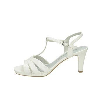 Tamaris dámske sandále na platforme - biele