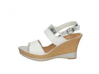 Tamaris dámske sandále - biele