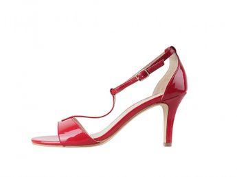 Tamaris dámske sandále - červené