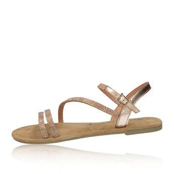 4c23c7873a Tamaris dámske elegantné sandále s ozdobnými kamienkami - hnedé