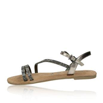 3e215fb33811 Tamaris dámske elegantné sandále s ozdobnými kamienkami - tmavošedé