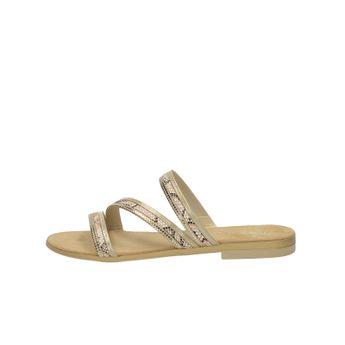 Tamaris dámske elegantné šľapky - zlaté