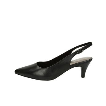 c64b50bd9f Tamaris dámske kožené sandále s remienkom - čierne