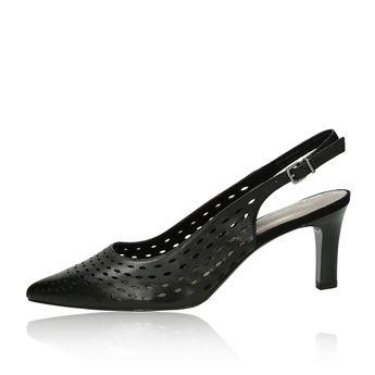 bcff5bbd116e Tamaris dámske kožené perforované sandále - čierne