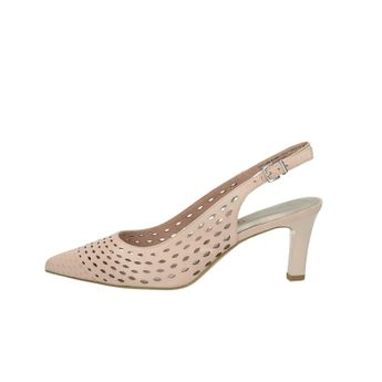 84044d4f3f88 Tamaris dámske kožené perforované sandále na podpätku - ružové