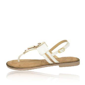 Tamaris dámske kožené sandále s remienkom - biele 6a9e292bfab