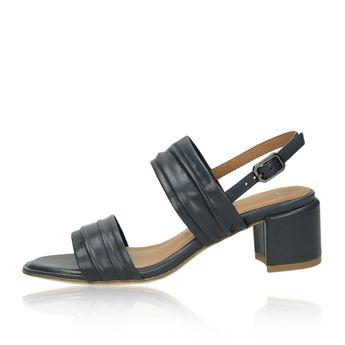 b1d4e5eb67 Tamaris dámske kožené sandále - tmavomodré