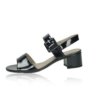 Tamaris dámske lakované sandále - tmavomodré