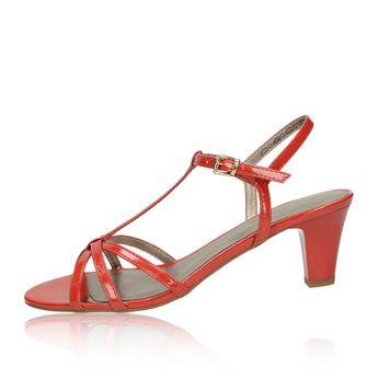 97701189a0c0a Tamaris dámske lakované štýlové sandále na podpätku - červené
