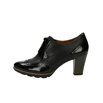 c33ad102dc0f Tamaris dámske lesklé kotníky - čierne
