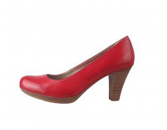 Tamaris dámske kožené lodičky - červené