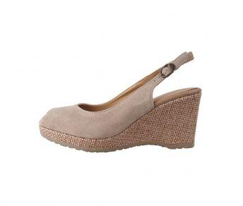9d140626373dd Tamaris dámske kožené sandále - béžové